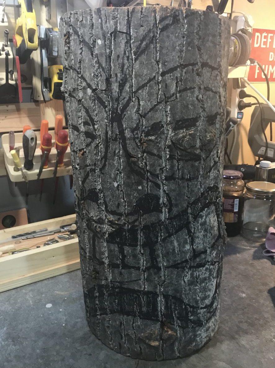 Le Tiki sculpté - La phase de dessin