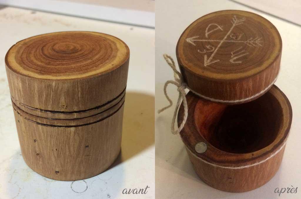 Boîte en bois pour alliances